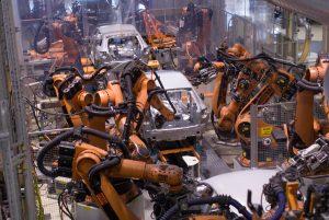 produktie lijnen van de Audi A4