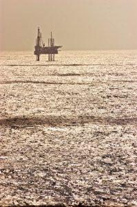 Boorplatform in de Golf van Mexico